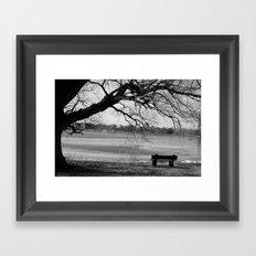 Cold Seat Framed Art Print