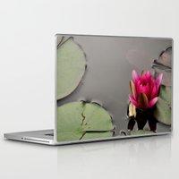 lotus flower Laptop & iPad Skins featuring Lotus by Stevyn Llewellyn