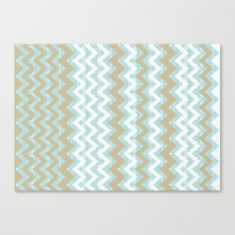 Chevrons and Dots Canvas Print