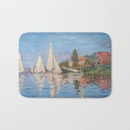 Claude Monet - Regattas at Argenteuil Bath Mat