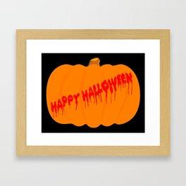 Totaly Evil Halloween Pumpkin Framed Art Print