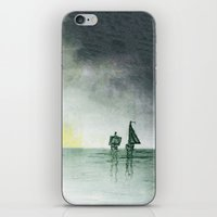 sailing iPhone & iPod Skins featuring Sailing by Brontosaurus