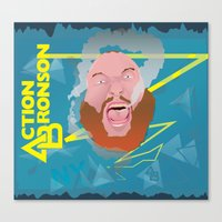 """action bronson Canvas Prints featuring Action Bronson """"Blue Dream"""" by cocobreadconqueso"""