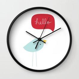 Hello Birdie Wall Clock