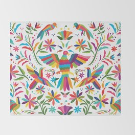 Mexican Otomí Design Throw Blanket