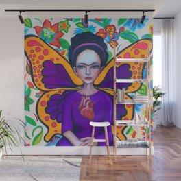 Frida Kahlofly Wall Mural