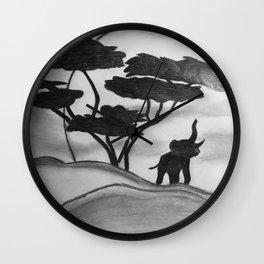 Safari View Wall Clock