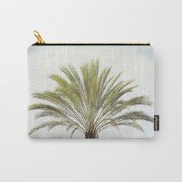 Palm Tree Photography, California Beach Coastal Art, Palm Trees Sky Carry-All Pouch