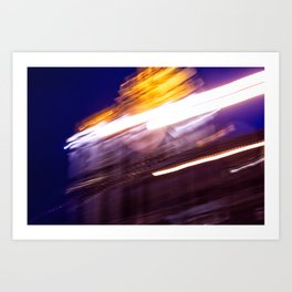 On the move through Moscow Art Print
