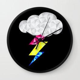Pansexual Storm Cloud Wall Clock