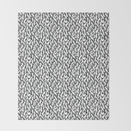 White Ghostly Pattern Throw Blanket
