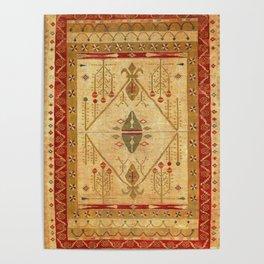 Bikaner Dhurrie Northwest Indian Cotton Kilim Print Poster