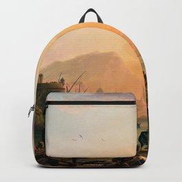 Claude Joseph Vernet - A Calm At A Mediterranean Port - Digital Remastered Edition Backpack