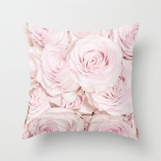Roses have thorns- Floral Flower Pink Rose Flowers on #Society6 Throw Pillow