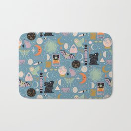 Lunar Pattern: Blue Moon Bath Mat