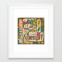 jazzberry Framed Art Prints featuring Tastes Great But Totally Inedible: Must be JAZZ (the art of madness and madness of art) by Jazzberry Blue