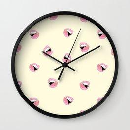 Pizza Fang Wall Clock
