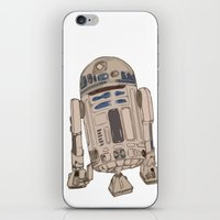 r2d2 iPhone & iPod Skins featuring R2D2 by colleencunha
