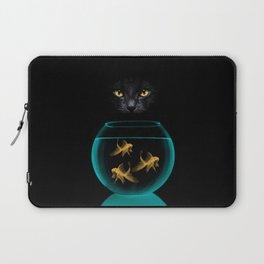 Black Cat Goldfish Laptop Sleeve