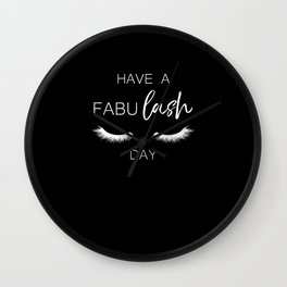Fabu Lash Beautician Saying Funny Gift Wall Clock