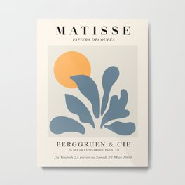 Exhibition poster Henri Matisse 1953. Metal Print
