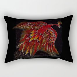 Creature of Fire (The Firebird) Rectangular Pillow