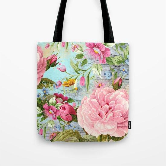 Vintage Flowers #6 Tote Bag