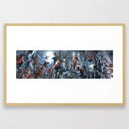 SPIDER-MAN   all togheter Framed Art Print
