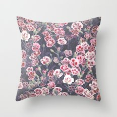 Carnations Pattern Throw Pillow