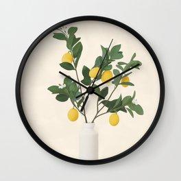 Lemon Branches II Wall Clock