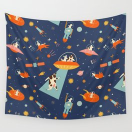 Cosmic dogs Wall Tapestry