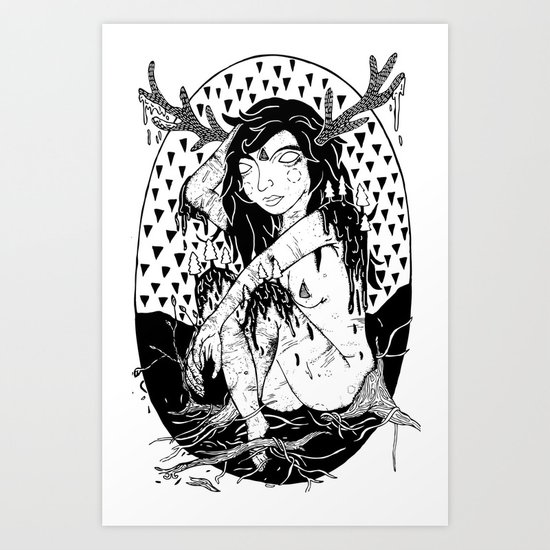 tree lady Art Print