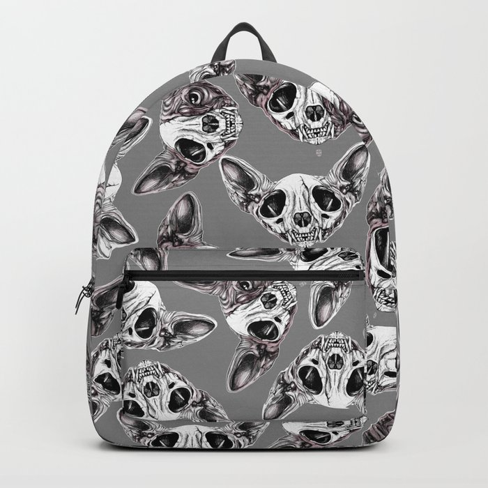 Shynx Half Skull Pattern Backpack