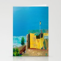 jamaica Stationery Cards featuring Jamaica. Jamaican Blues by ANoelleJay