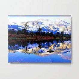 Glacier Mountains Metal Print