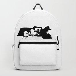 Massachussetts Morgan Figure Horse Lover Black Backpack