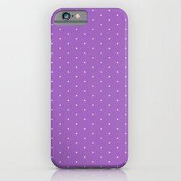 Lavender Dots iPhone Case