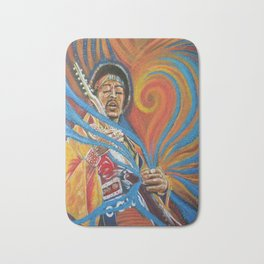 """Jimi """"The Color of His Music"""" Bath Mat"""