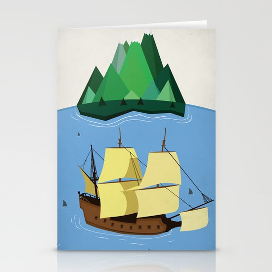 A Galleon on the High Seas Stationery Cards