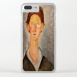 "Amedeo Modigliani ""Portrait Of A Student (L'Etudiant)"" Clear iPhone Case"