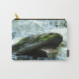 Mossy Water Rocks Carry-All Pouch