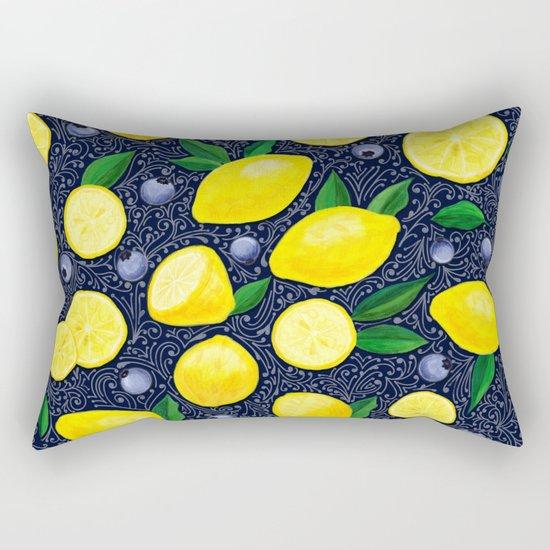 Lemon Blueberry Tart Rectangular Pillow