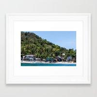 philippines Framed Art Prints featuring Apo Island Philippines by Jennifer Stinson