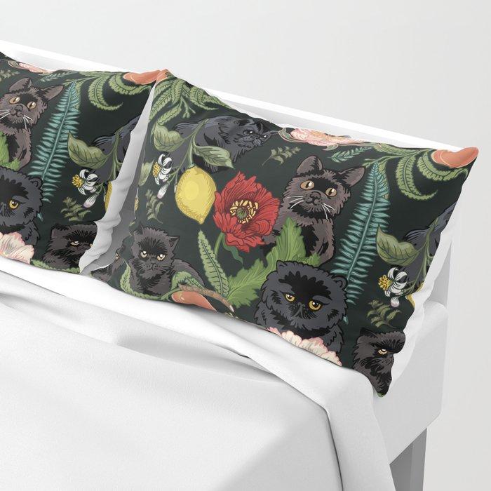 Botanical and Black Cats Kissenbezug