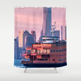 NYC Staten Island Ferry Shower Curtain