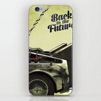 back to the future iPhone & iPod Skins featuring Back to the future by Duke.Doks
