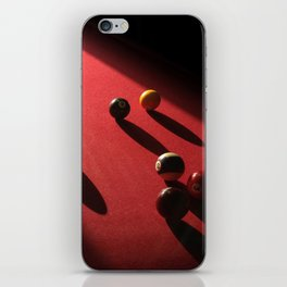 Blood Red Billiard Table and Balls iPhone Skin