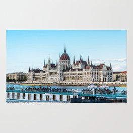Cityscape of Budapest Rug