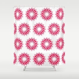 Poppy Modern Sunbursts Shower Curtain