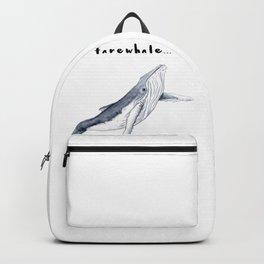 Farewhale Humour Whale Farewell Goobye design Backpack
